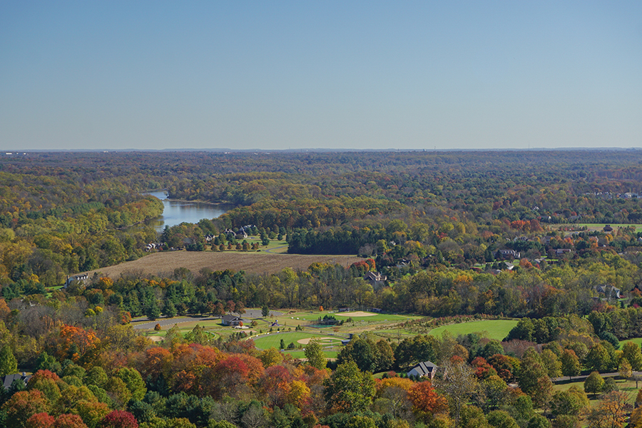 Pennsylvania - View of the Delaware River and Pennsylvania Countryside from Bowman's Hill Tower in Washington Crossing Historic Park